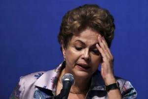 Brazil's President Dilma Rousseff speaks during the 15th National Health Conference in Brasilia, Brazil December 4, 2015. Rousseff suffered two setbacks on Friday to her fight against impeachment, as a minister from her main coalition ally resigned and the Supreme Court quashed appeals from supporters seeking to stop the impeachment process. REUTERS/Ueslei Marcelino